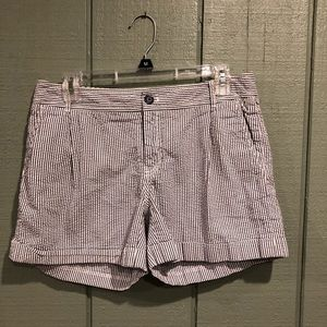 Banana Republic Seersucker Shorts Size 8